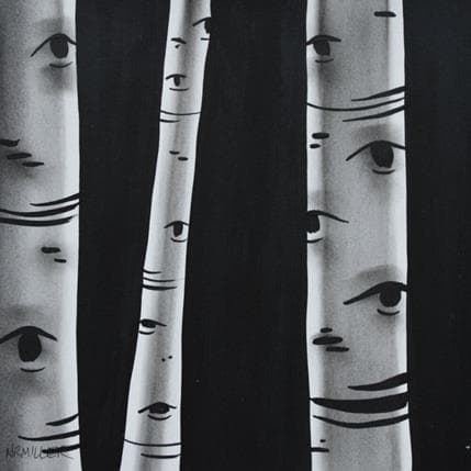 Natasha Miller Birch study 2 19 x 19 cm
