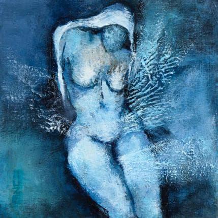 Muze Jeune fille au voile blanc 13 x 13 cm