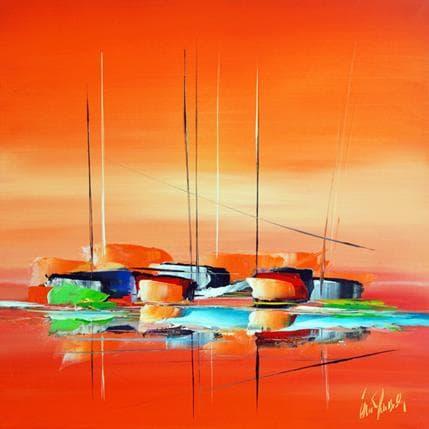 Eric Munsch Sublime orange 100 x 100 cm