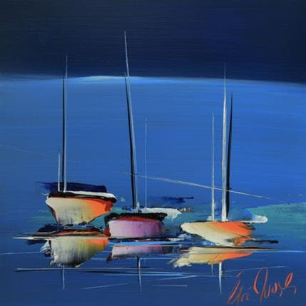 Eric Munsch Un bleu d'océan 36 x 36 cm