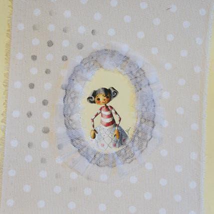 Nai La marionetta Marti nel tulle bianco 19 x 19 cm