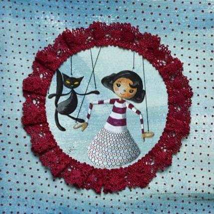 Nai La marionetta Marti e il gatto di Montmartre 19 x 19 cm