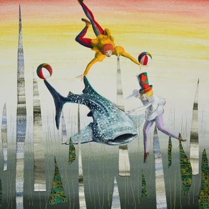 Nai La danza con lo squalo balena 36 x 36 cm