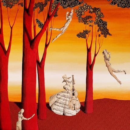 Nai La musica di tchaikovsky nel  bosco 80 x 80 cm