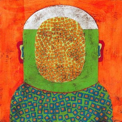 Gustavo Ortiz Green witness 1 25 x 25 cm