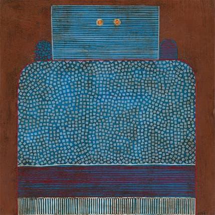 Gustavo Ortiz Blue ranquel 1 36 x 36 cm
