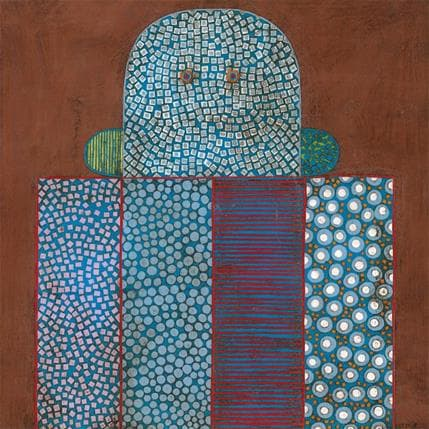 Gustavo Ortiz Blue ranquel 2 36 x 36 cm