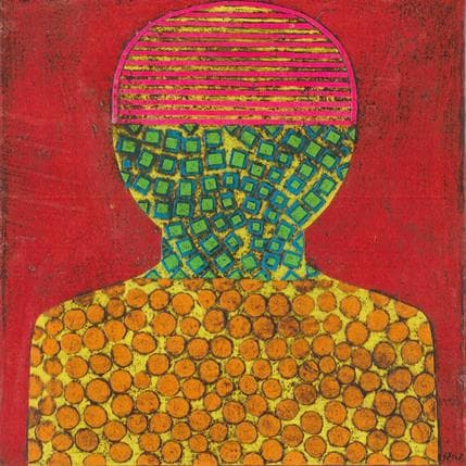Gustavo Ortiz Little man n°2 13 x 13 cm