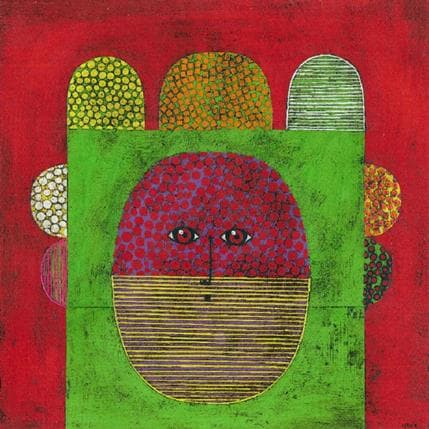 Gustavo Ortiz Big colourful hair n°5 36 x 36 cm