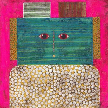 Gustavo Ortiz Big colourful hair n°3 36 x 36 cm
