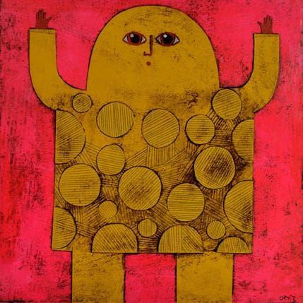 Gustavo Ortiz Yellow titan 25 x 25 cm