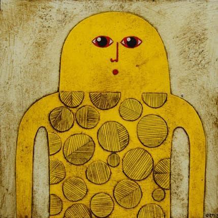 Gustavo Ortiz Yellow titan 19 x 19 cm