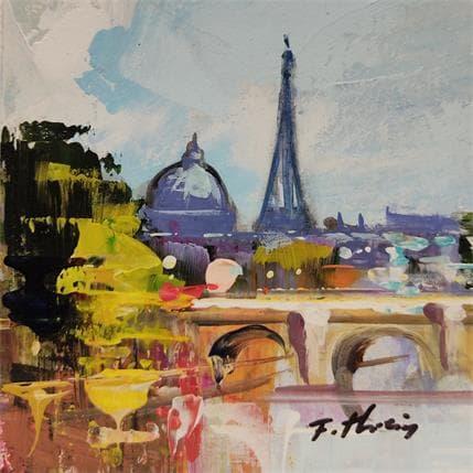 Frédéric Thiéry L'institut et Eiffel tower 13 x 13 cm