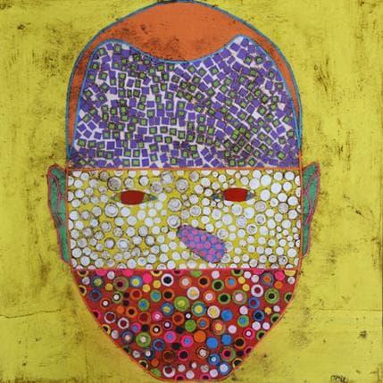 Gustavo Ortiz Self portrait mask V 36 x 36 cm