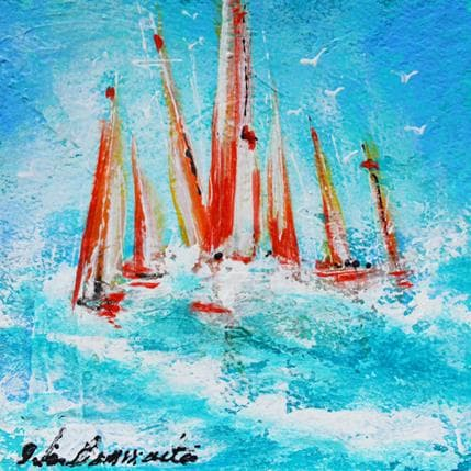 Nicole Ortis-Bommarito Les voiles rouges 13 x 13 cm