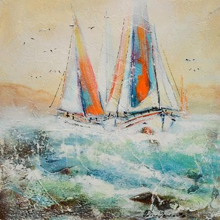 Nicole Ortis-Bommarito Au mouillage 36 x 36 cm