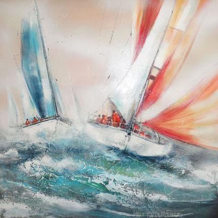 Nicole Ortis-Bommarito Poussés par le vent 80 x 80 cm