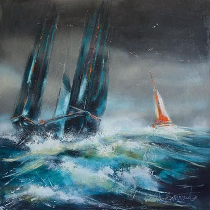 Nicole Ortis-Bommarito Nuit d'orage 100 x 100 cm