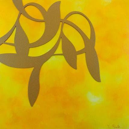 YongHo Park Yellow gold ivy 36 x 36 cm