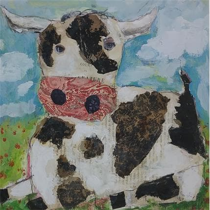 Miguel De Sousa Oh la vache 25 x 25 cm