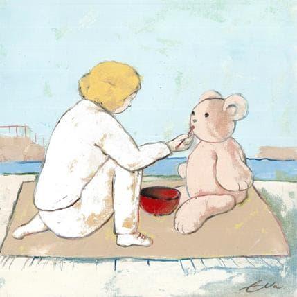 Eva Petkova Teddy bear is hungry 36 x 36 cm