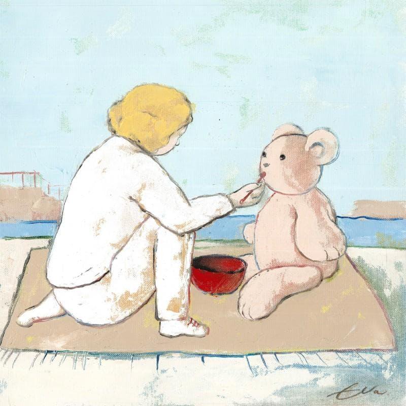 Teddy bear is hungry