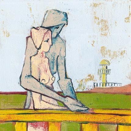 Eva Petkova Hugging 13 x 13 cm