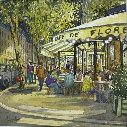 Jean-Charles Decoudun Café de Flore 25 x 25 cm