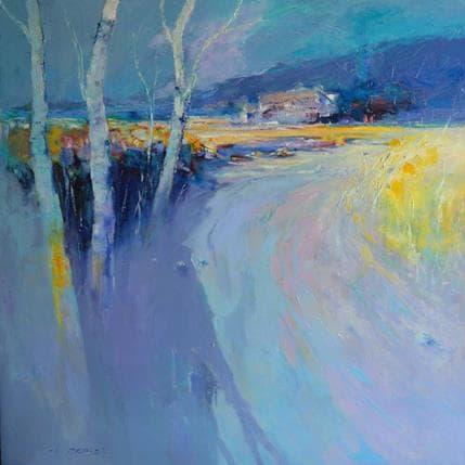Ivica Petras Birches 100 x 100 cm