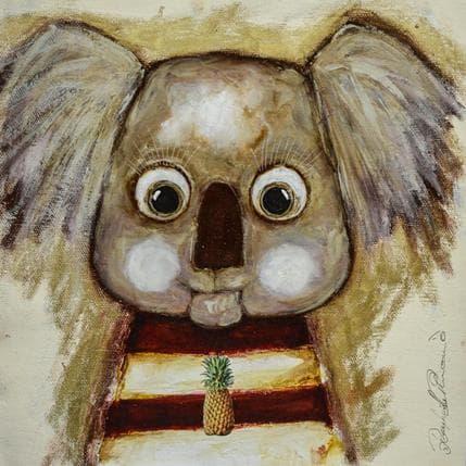 Raphaëlle Penaud Ananas et koala 25 x 25 cm
