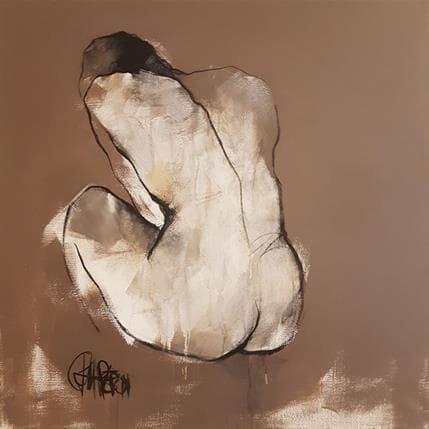 Martine Chaperon Dorée 80 x 80 cm