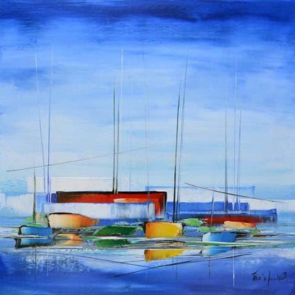 Eric Munsch Dans le bleu de l'océan 100 x 100 cm