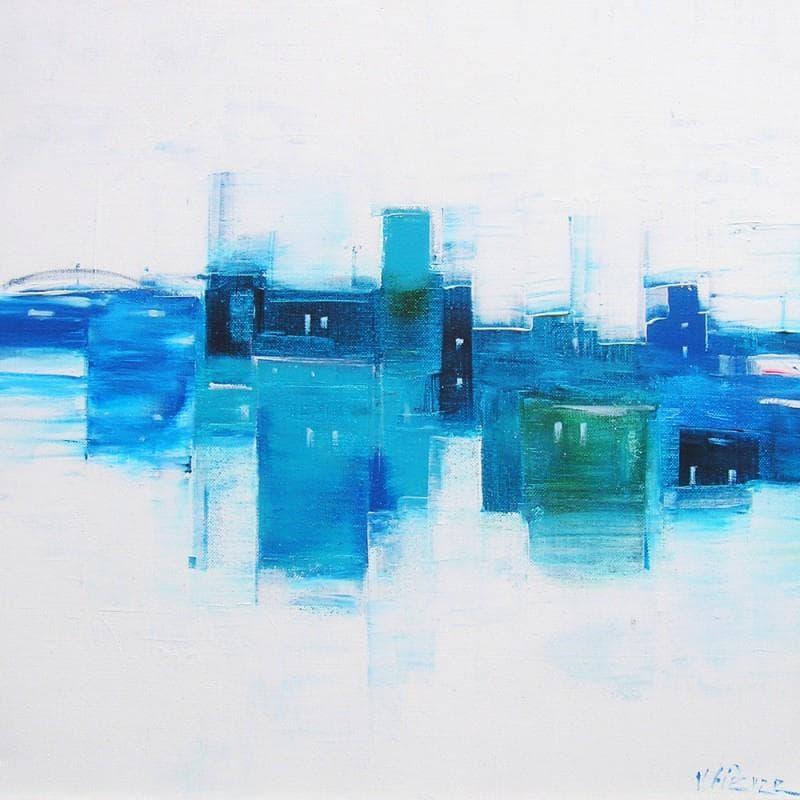 Zone industrielle en bleu