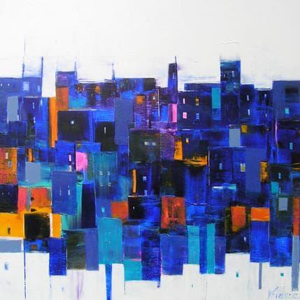 Véronique Fièvre Composition en couleur 80 x 80 cm