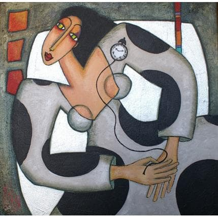 Marie-Pierre Kuhn A la bonne heure 50 x 50 cm