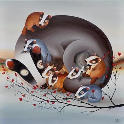 Raphaële Lennoz Hibernation 80 x 80 cm