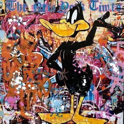 Fabien Novarino Hello Daffy 80 x 80 cm