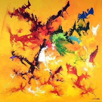 Thierry Zdzieblo Jaune 100 x 100 cm