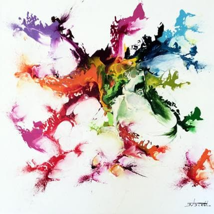 Thierry Zdzieblo Sans titre blanc 80 x 80 cm
