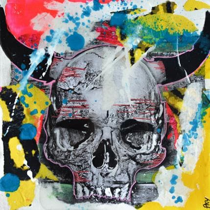 Pookky Korn skull 19 x 19 cm