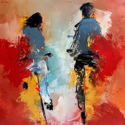 Christian Raffin Rouge passion 36 x 36 cm