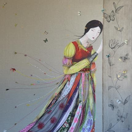 Catherine Rebeyre Rencontre éphémère 2 100 x 100 cm
