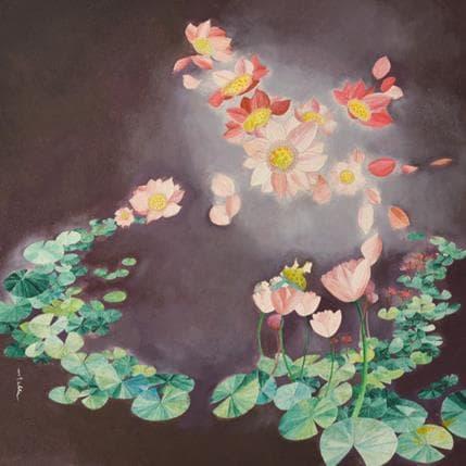 Estelle Régent Amour en fleur 36 x 36 cm