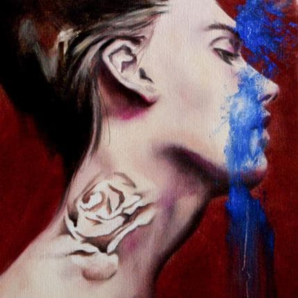 Béatrice Riva Blue spirit 25 x 25 cm