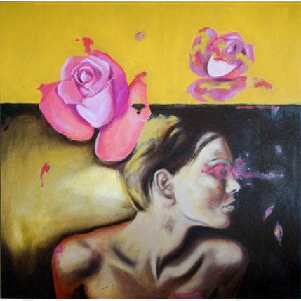 Béatrice Riva Dreaming in rose 100 x 100 cm