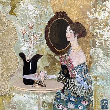 Karine Romanelli La dame bleu 1 25 x 25 cm