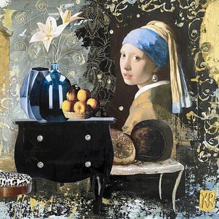 Karine Romanelli La dame bleue 25 x 25 cm