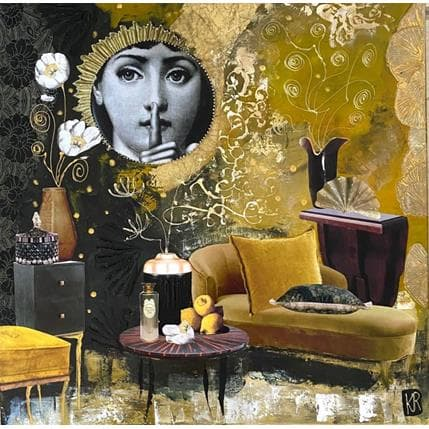Karine Romanelli Un ange passe 50 x 50 cm