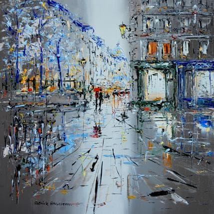 Patrick Rousseau Le canal Saint Martin 36 x 36 cm