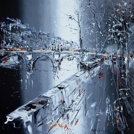 Patrick Rousseau Promenade en soirée 36 x 36 cm